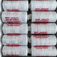 Нитки швейные 40/2 (400Y) белые