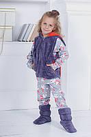 Дитячий домашній костюм піжама, жилет і чобітки