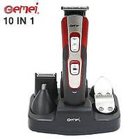 Аккумуляторная машинка для стрижки Gemei Gm-592, 10 в 1 (набор для стрижки волос и бороды)