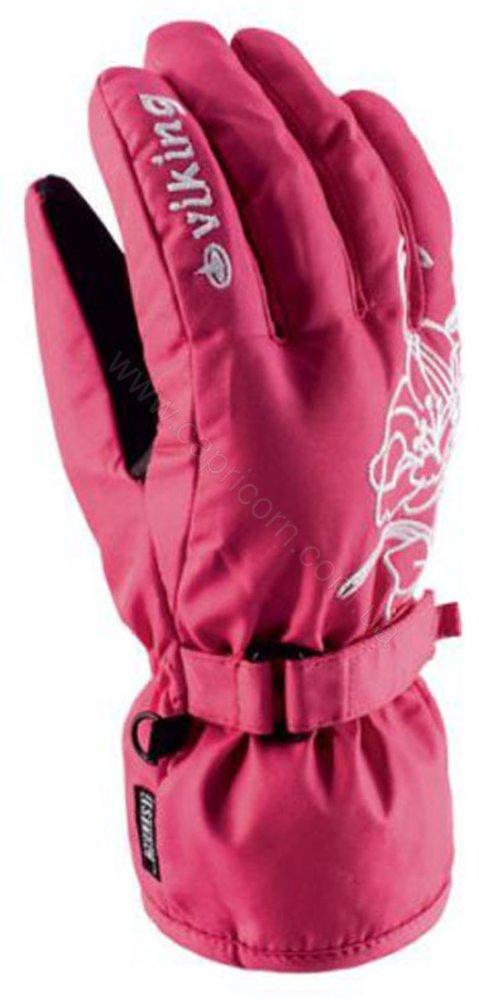 Гірськолижні рукавички Viking Selena розові   розмір - 6,7