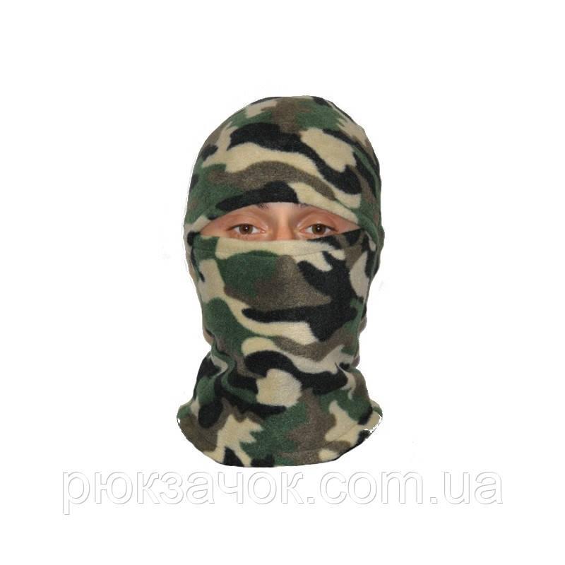 Шапка маска балаклава флисовая, подшлемник  зимний, Цвет Камуфляж Украина