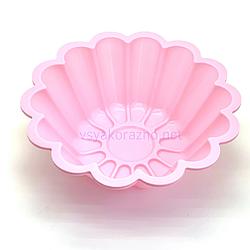 Силиконовая форма для выпечки (Кекс Волна большой) / Силіконова форма для випічки (розовый)