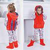Детский домашний костюм пижама, жилет и сапожки