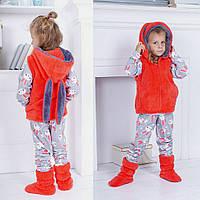 Детский домашний костюм пижама, жилет и сапожки, фото 1