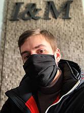 Марлевая многоразовая маска пятислойная I&M Craft черная (090313)