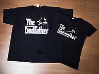Футболки парные The Godmother. The Godfather. Черные.