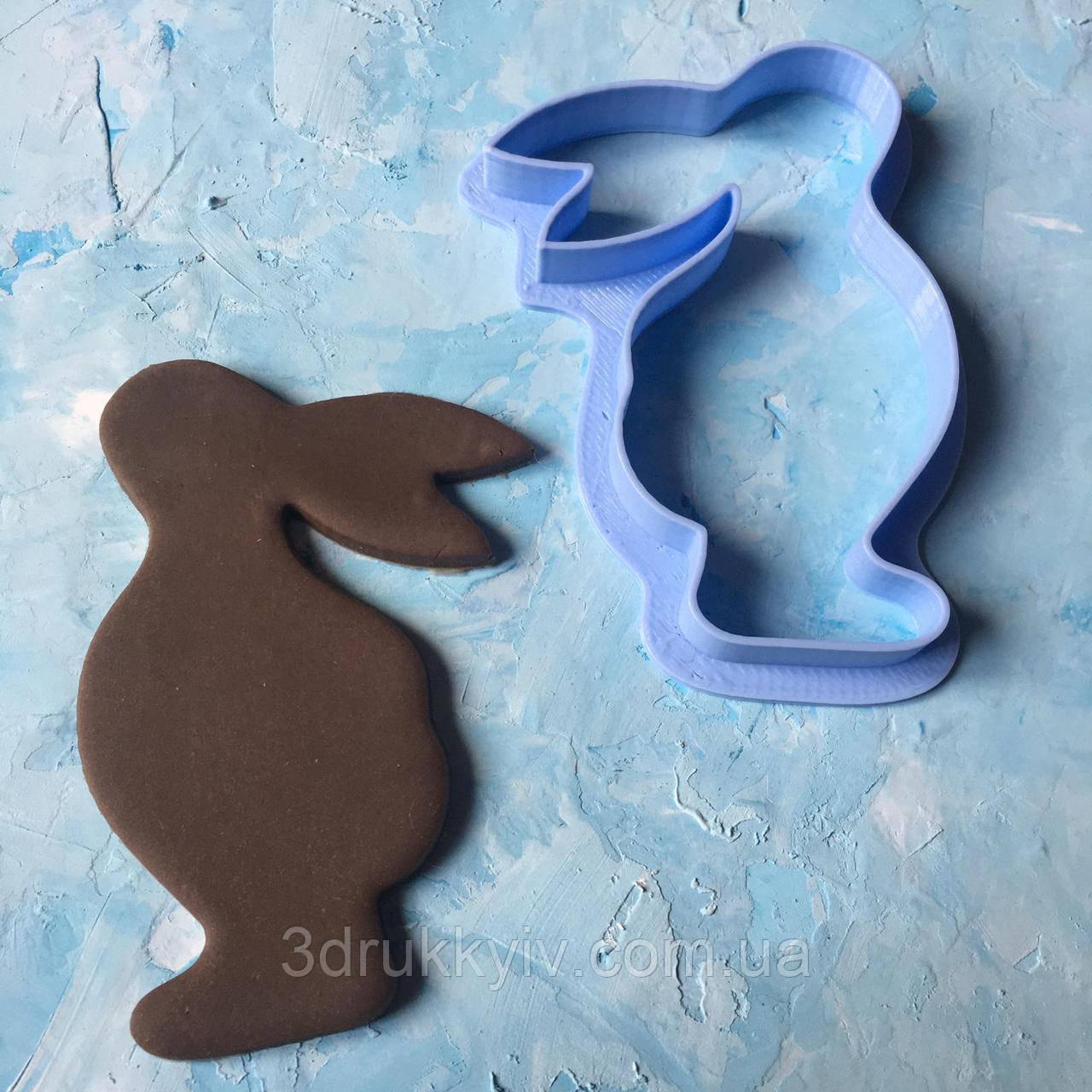 """Вирубка """"Пасхальний кролик #16"""" / Вырубка - формочка для пряников """"Пасхальный кролик #16"""""""