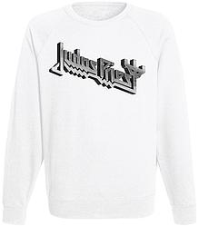Свитшот Judas Priest - Grey Logo (белый)