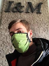 Марлевая многоразовая маска пятислойная I&M Craft оливковая (090315)