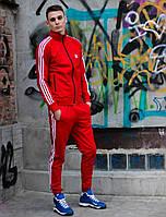 Мужской спортивный костюм Adidas (Адидас) весна/осень, красный