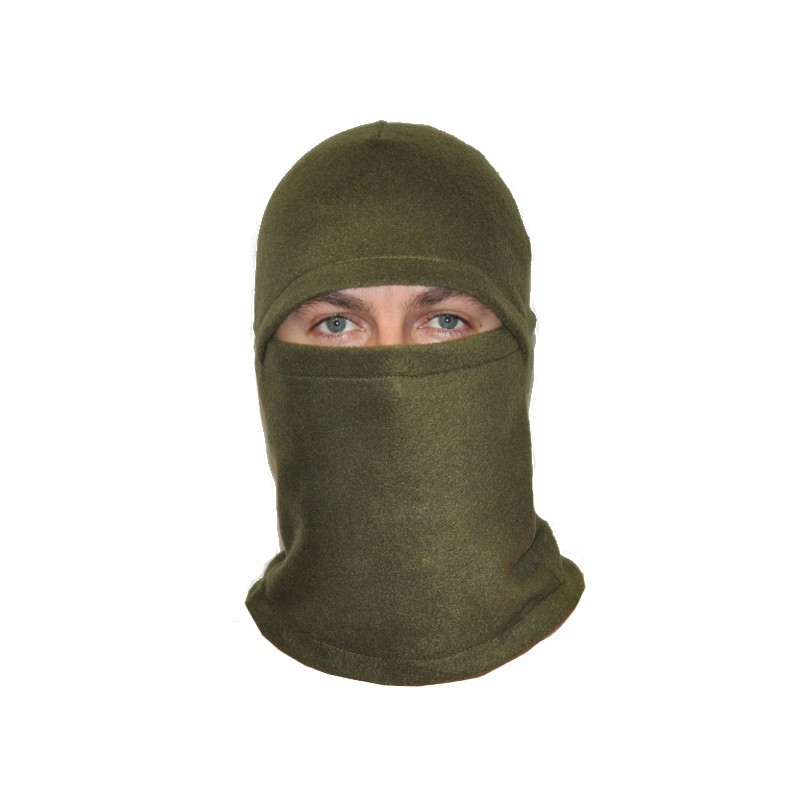 Шапка маска балаклава флисовая, подшлемник  зимний, Цвет Хаки (Олива)