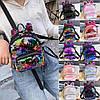 Женский мини рюкзак с пайетками и с ушками 🎁 В подарок браслет и кукла, фото 3