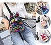 Женский мини рюкзак с пайетками и с ушками 🎁 В подарок браслет и кукла, фото 6