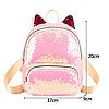 Женский мини рюкзак с пайетками и с ушками 🎁 В подарок браслет и кукла, фото 10