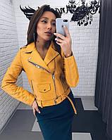 Женская качественная кожаная куртка косуха Разные цвета