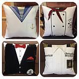 Подарочная подушка униформа полиции, сотруднику СБУ, пожарнику, стоматологу, моряку, нацгвардии, медику, врачу, фото 5