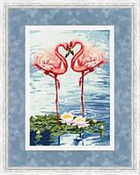 Набор для вышивки крестом Золотое Руно З-051 «Свидание фламинго»