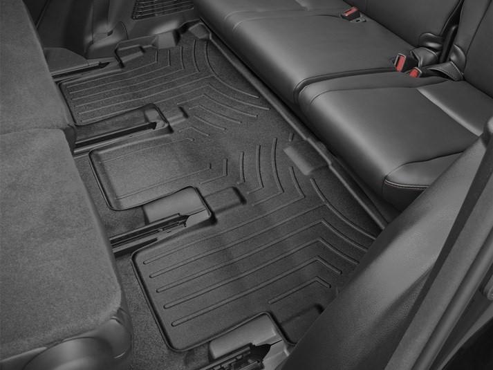 Ковры резиновые WeatherTech Toyota Highlander 14-19 третий ряд черные  (для авто 2-й ряд с цельным сиденьем )