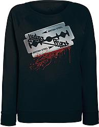 """Женский свитшот Judas Priest - British Steel """"Blade"""" (чёрный)"""