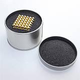 Головоломка Neo Cube Нео Куб Магнит 216 шариков 5мм золотой, фото 4
