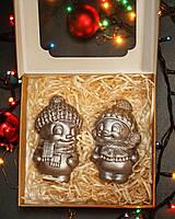 Детские новогодние конфеты на новый год - Шоколадный снеговик девочка - молочный шоколад
