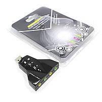 Внешняя звуковая карта Lesko USB 7.1 Dynamode Virtual 90 дБ 3D для ноутбуков ПК с кнопками управления, фото 5