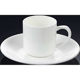 Чашка для кофе 90 мл WILMAX с блюдцем 993007 WIL