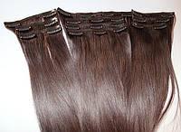 Набор натуральных волос на клипсах 52 см оттенок №900 130 грамм, фото 1