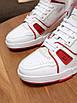Кроссовки высокие Louis Vuitton Белые кроссовки на липучках Луи Виттон кожаные, фото 5