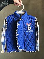 """Комплект для мальчика """"Blue Ways"""", рубашка и жилет на 1-3 года"""