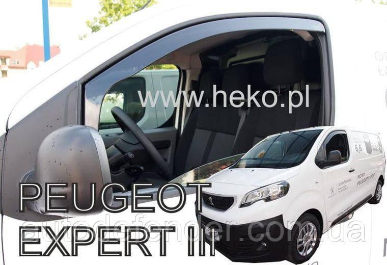 Дефлекторы окон (вставные!) ветровики Peugeot Expert III 2016-2021 2шт., HEKO, 12264