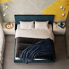 Двуспальная кровать Стори 180 х 200 с мягким изголовьем, двухспальная кровать, кровать, деревянная кровать, фото 3