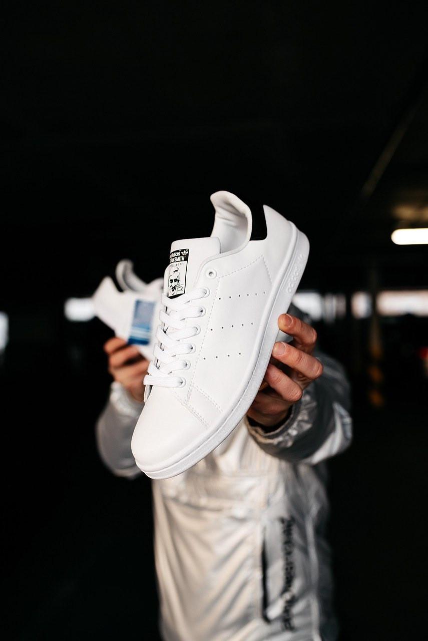 Мужские белые Кроссовки Adidas Stan Smith
