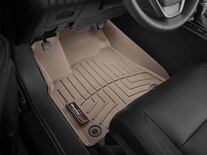 Ковры резиновые WeatherTech Toyota Highlander 2014-2019  передние бежевые