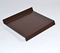 Отлив металлический коричневый 380мм