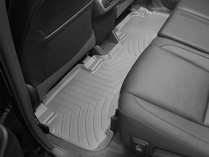 Ковры резиновые WeatherTech Toyota Highlander 2014-2019  задние серые 2-й ряд с цельным сиденьем