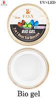 Биогель FOX 3 в 1 Bio Gel (Base / Top / Builder) - прозрачный, 15 мл
