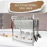 Сушилка для посуды Multifunctional dish rack, фото 4