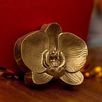 Новогодние украшения для интерьера - Съедобная шоколадная орхидея - молочный шоколад