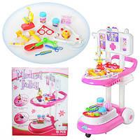 Игровой набор доктора 13244 Медицинская тележка, игрушки для девочек.