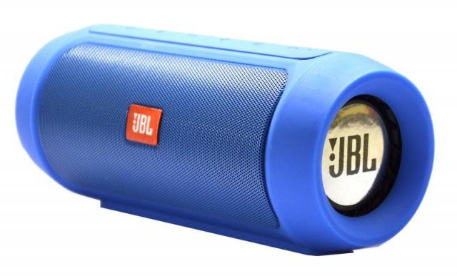 Портативная колонка JBL Charge 2  Bluetooth, AUX, MicroSD, синяя
