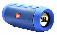 Портативная колонка JBL Charge 2  Bluetooth, AUX, MicroSD, синяя, фото 1