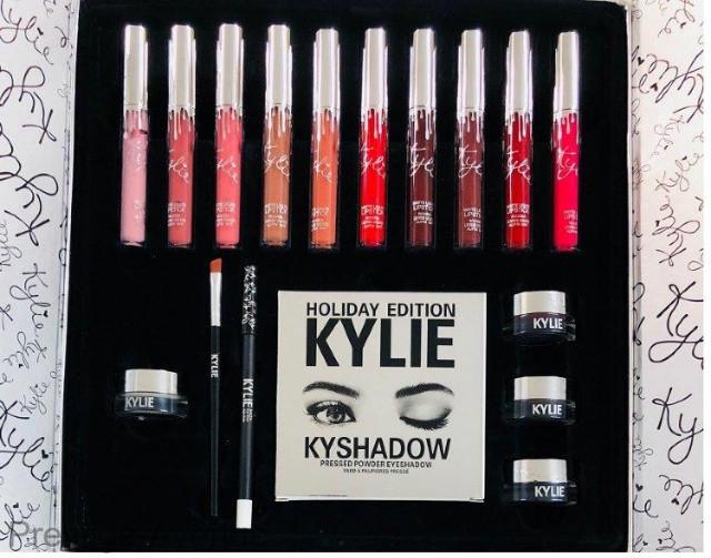 Подарочный набор декоративной косметики Kylie, серебро