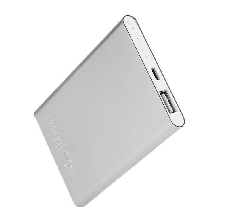 Супер тонкий Power Bank Xiaomi Mi Slim 12000 mAh, серебро