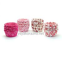 Бумажные формы для кексов и маффинов / Паперові форми для кексів і маффінів 75х30 мм (100 шт.) Сердечки
