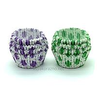 Бумажные формы для кексов и маффинов / Паперові форми для кексів і маффінів 75х30 мм (100 шт.) Кленовый лист
