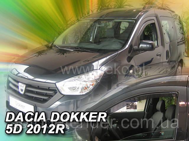 Дефлекторы окон (вставные!) ветровики Renault Dokker 2012-2020 2шт., HEKO, 13109
