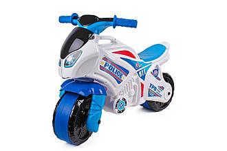 Мотоцикл дитячий ТехноК 5125, біло-синій, поліція