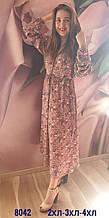 Платье с капишоном штапельные, 8042