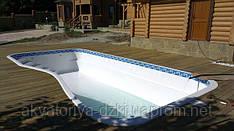 Стекловолоконный бассейн Ялта в белом цвете